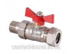 Кран шаровой для нержавеющей трубы LAVITA PxML 15x1/2 (папа/латунь/никель)