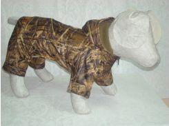 Костюм для собак Камуфляж утепленный флисом Комбинезон, Собаки, Лори, 72*116, Зима, Украина