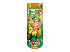 Лоривит деликатес корм для средних попугаев, туба 500 г
