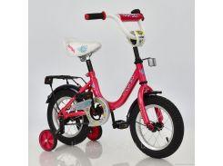 """Велосипед 12"""" дюймов 2-х колёсный С12030 """"CORSO"""" (1) РОЗОВЫЙ, звоночек, сидение с ручкой, доп. колеса, СОБРАННЫЙ НА 75% в коробке"""