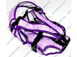 Гр Рюкзак-кенгуру №8 (1) лёжа,цвет фиолетовый.Предназначен для детей с двухмесячного возраста