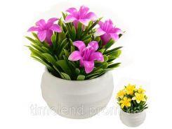 Искусственные цветы в горшке 9см