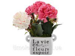 """Композиция из искусственных цветов """"La Vie"""" 23см"""