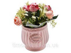 """Композиция из искусственных цветов """"Pretty Roses"""" 10*17см"""