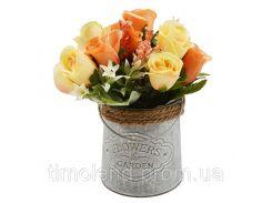 """Композиция из искусственных цветов """"Roses"""" 20*10см"""