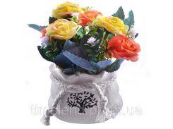 """Композиция из искусственных цветов """"Small Roses"""" 9*13см"""
