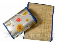 Пляжный коврик из соломки и фольги  90х180