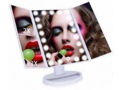 Зеркало Superstar для макияжа с подсветкой Magnifying Mirror 22 LED Мятное