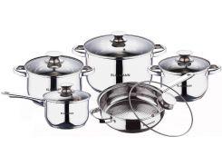 Набор посуды из нержавеющей стали Blaumann Gourmet Line BL 1637 (10 пр.)