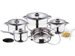 Набор посуды из нержавеющей стали Blaumann Gourmet Line BL 3165 (13 пр.)