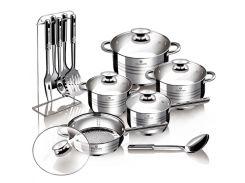 Набор посуды из нержавеющей стали Blaumann Gourmet Line BL 3133 (17 пр.)
