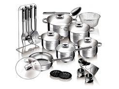 Набор посуды из нержавеющей стали Blaumann Gourmet Line BL 3134 (27 пр.)