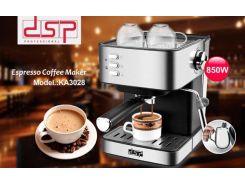 КОФЕМАШИНА ПОЛУАВТОМАТИЧЕСКАЯ DSP ESPRESSO COFFEE MAKER KA3028 С КАПУЧИНАТОРОМ