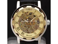Часы наручные мужские WINNER Gold скелетон