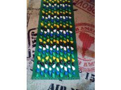 Массажный коврик 100x40 100, пластик, кавролин, 40, массажный, зеленый