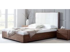 Кровать Woodsoft Porto 180 см Ольха Орех с коробом для белья и подъемным механизмом