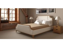 Кровать Woodsoft Milton 160 см с нишей Ольха Цвет дерева Светлый орех