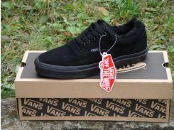 Зимние кеды Vans Era All Black Winter Edition, вансы