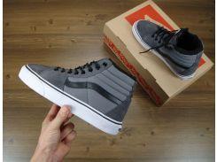 Кеды Vans SK8 - Hi. Winter Edition Grey, зимние вансы с мехом