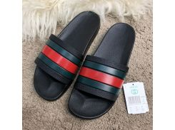 Gucci Web Slide Sandal Black Rubber