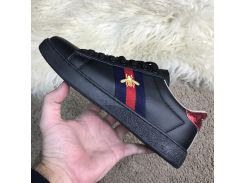 Gucci Ace Embroidered Sneaker Black