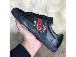 Gucci Snake Embroidered Sneaker Black