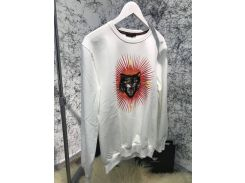 Sweatshirt Gucci Angry Cat Appliqué White