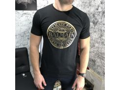 Balmain T-Shirt With Print Logo Black/Gold