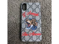 Gucci iPhone X Case with Tiger GG Supreme