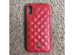 Chanel Iphone X Case Quilted Double C Red