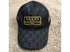 Baseball Hat Gucci Web Logo Square GG Supreme Canvas Black