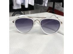 Miu Miu Sunglasses Aviator Metal White/Black
