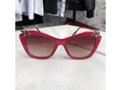 Miu Miu Sunglasses Crystal-Embellished Red/Bordo