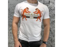 Gucci T-shirt Logo with Tigers White