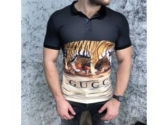 Gucci Polo Tiger Scene Black