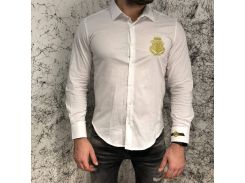Billionaire Shirt Diamond Cut LS Farlow White