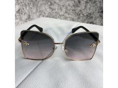 Gucci Sunglasses Ellipse with Bee Gold/Gray