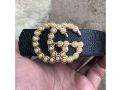 Gucci Belt Double G Pearl Black