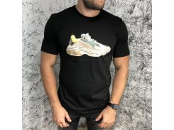 Balenciaga T-Shirt Triple S Trainers Black