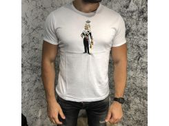 Dolce & Gabbana T-Shirt With Designer Patches King Wolf White