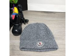 Moncler Winter Hat Tuft Knitted Gray