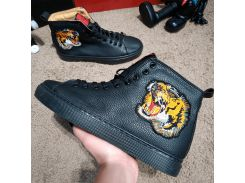 Gucci High Top Sneaker With Tiger Black