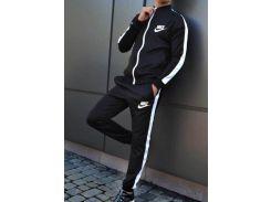 Костюм Nike чёрный с белыми вставками