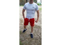 Летний спортивный комплект(шорты и футболка) UA Red/White