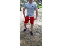 Летний спортивный комплект(шорты и футболка) UA Red/LightGray