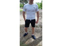 Летний спортивный комплект(шорты и футболка) Puma Black/White