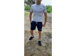 Летний спортивный комплект(шорты и футболка) UA Blue/White