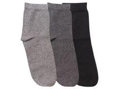 Набор из 3-х пар носков женских Casual, Duna, черный, 21-23 (35-37)