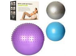 Мяч для фитнеса-65см MS 1652  Фитбол массаж, ББ
