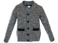 Кардиган с карманами, для мальчика, Flash, серый (164 р)